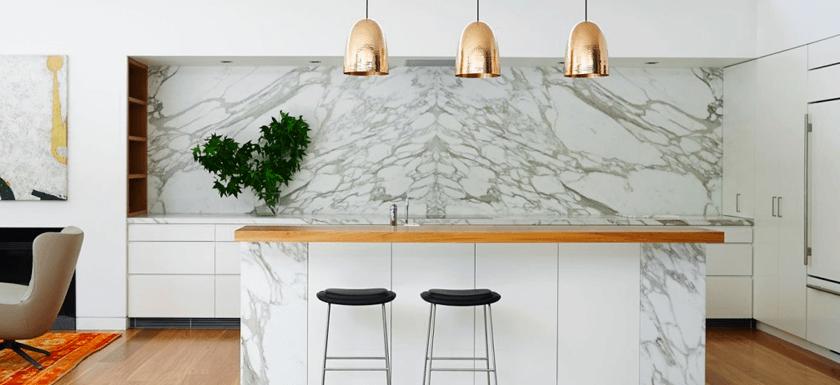 Bastida Desing | Cocina con detalles de Marmol