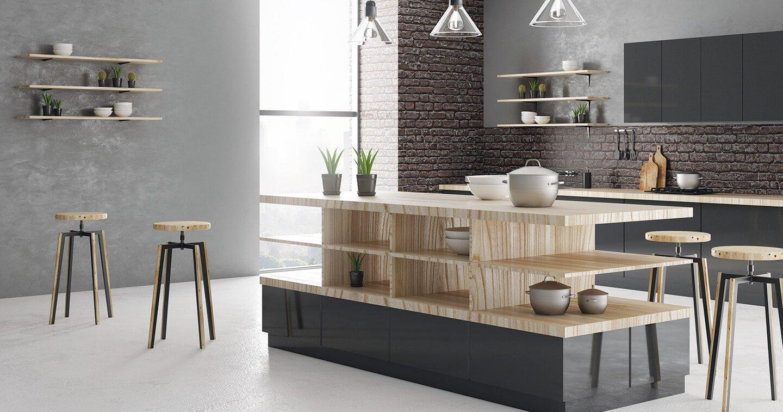 Bastida Desing | Cocina con detalles en madera