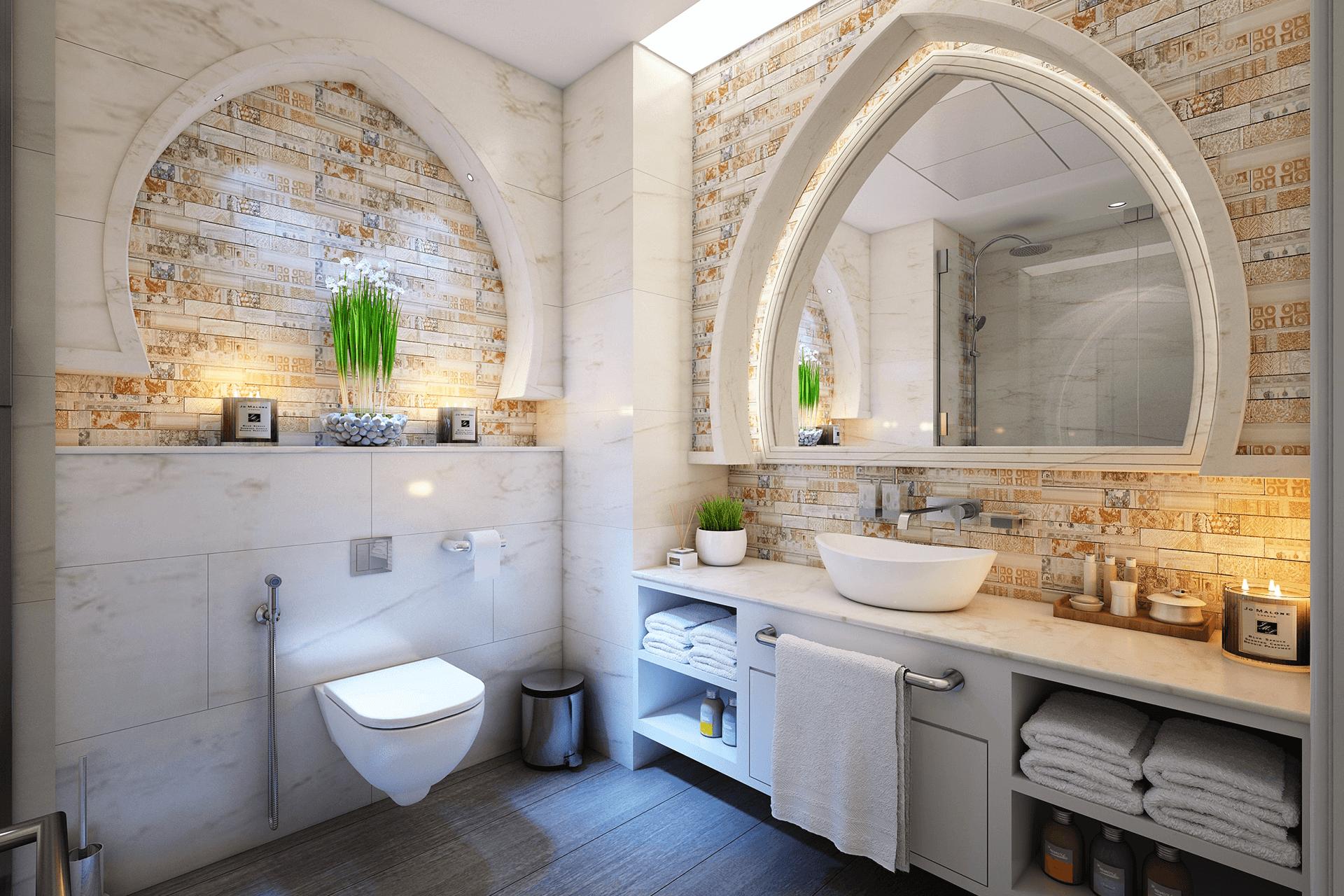 Bastida Desing | Interiorismo baño con arcos
